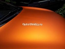 матовый хром оранжевый